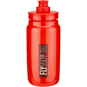 Elite Fly Borraccia 550ml, red/bordeaux logo